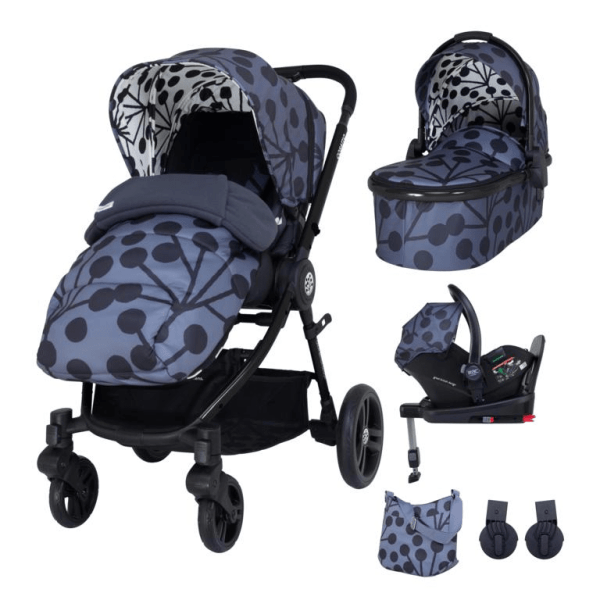 Cosatto Wowee Everything Travel System Bundle (Incl. i-Size 0+ Car Seat & Base) - Lunaria