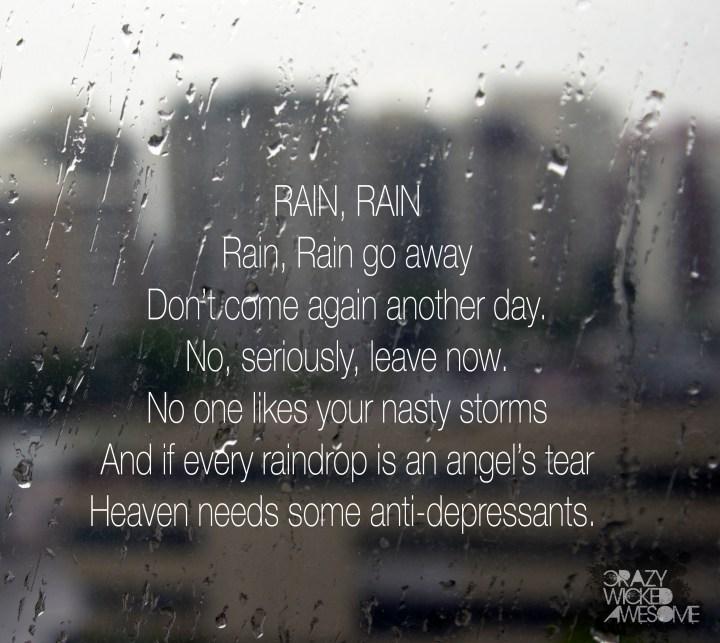 Rain, Rain Poem, CWA