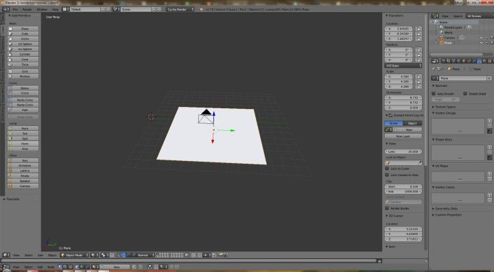 Abstract Blender Tutorial Step 1
