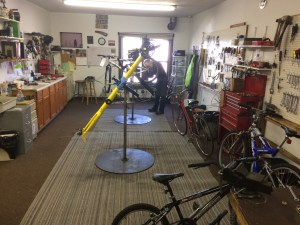 Chain Reaction Bike Shop workroom