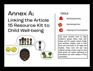 Annex A: Linking the Article 15 Resource Kit to Child Well-being