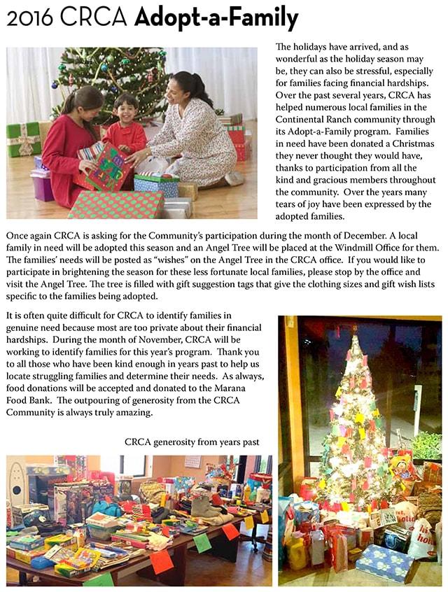 Adopt A Family For Christmas 2016 : adopt, family, christmas, Adopt, Family, Christmas, Continental, Ranch