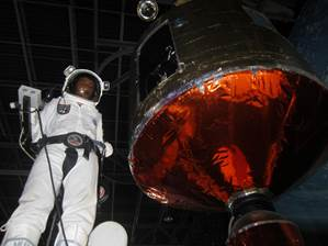 """Nick Yanik received the Lucile M. Wright Air Museum """"Space Camp"""" Scholarship in 2012 and is pictured in an actual space suit during his time at camp."""