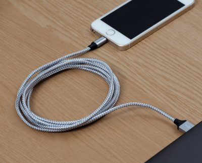 CRCTech Grey & White Lightning USB Cable