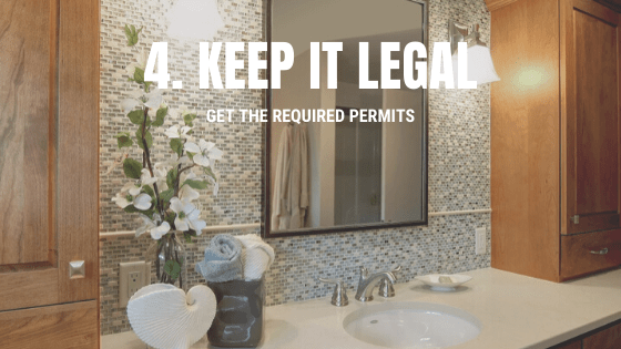 Bathroom remodeling building permits