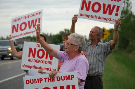 Residents protesting landfill proposal