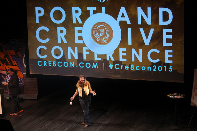 Chelsea Cain on Stage at the Portland Creative Conference
