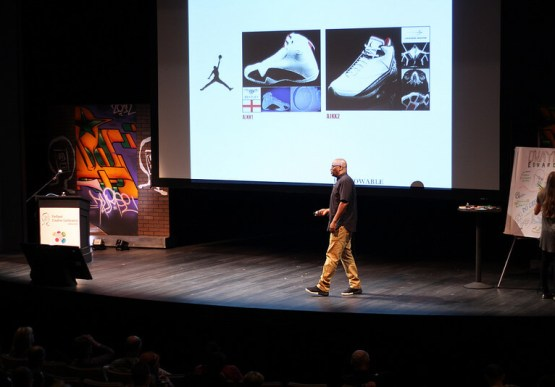 D'Wayne Edwards on stage at the Portland Creative Conference