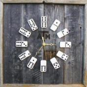 Salvaged Wood and Domino Clock