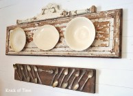 Salvaged Wall Art from an Old Door and Reclaimed Lumber