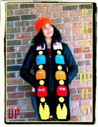 Custom PAC MAN Inspired Scarf Crochet