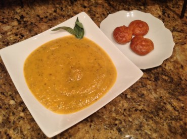 Butternut Squash & Chanterelle Bisque