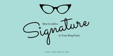 Add a Signature to Your WordPress Blog Posts in Genesis