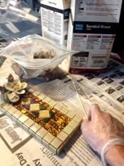 Golden Age Mosaic Tile Incense Burner