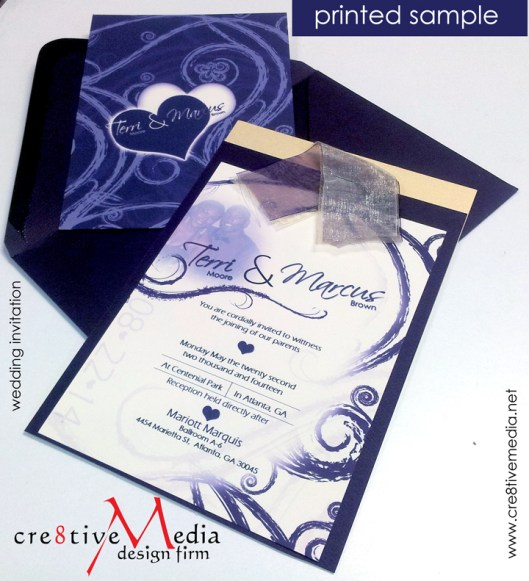 Printed Invitation Sample