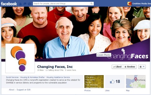 Changing Faces Business Facebook Page