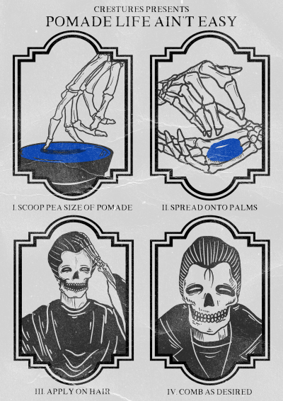 POMADE LIFE AINT EASY POSTER 2018