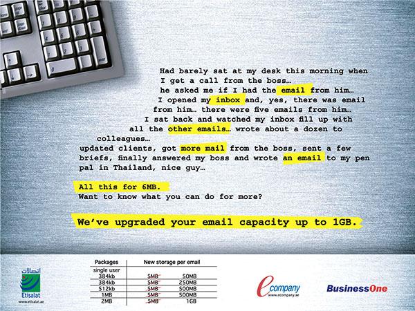 Etisalat BusinessOne Ad 01
