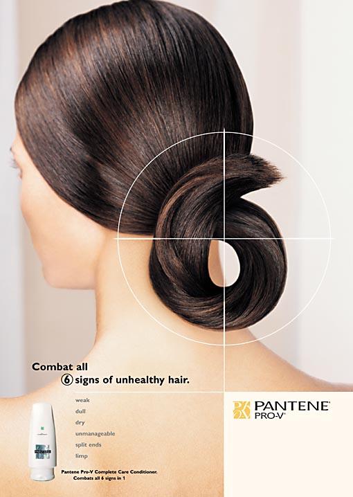 Pantene 6 print ad
