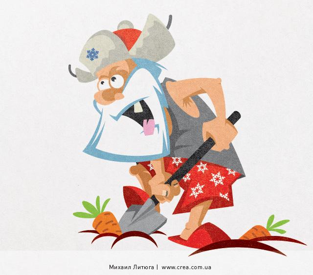 Корпоративный персонаж — Дед Мороз для компании «Аграм»