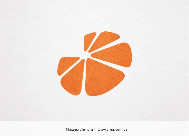 Дизайн логотипа радиостанции «Апельсин» | Radio station logo design