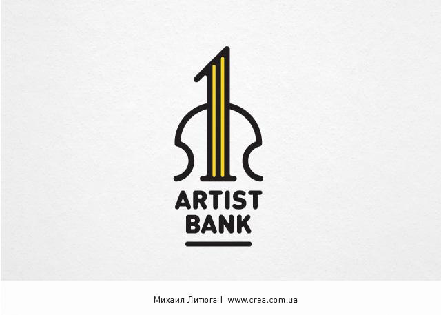 разработка логотипа для «First Artist Bank»