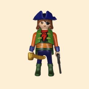 Pirate bleu et vert