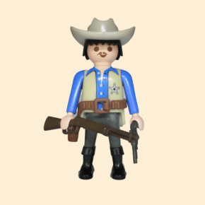 shérif chemise bleue