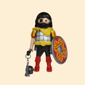 chevalier brun jaune et rouge