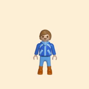 Playmobil enfant vêtements de ski bleus