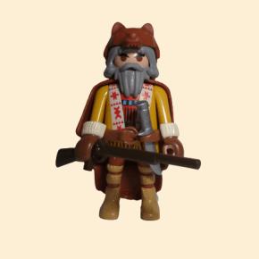Trappeur avec couteau et fusil