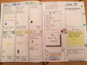 Weekly log idée bullet journal