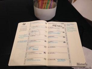 Weekly bullet journal