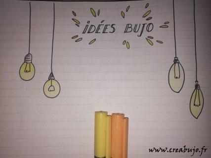Bullet journal page idées doodle