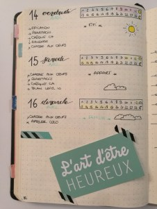Daily log - Bullet journal - idée