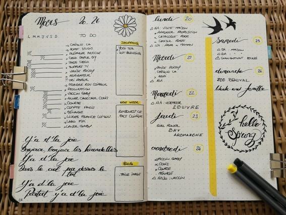 Running list - bullet journal