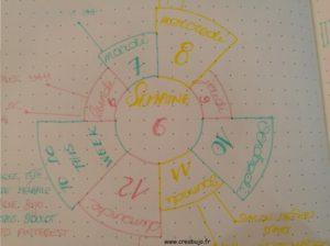 Weekly log - cercle - roue
