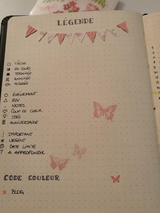 Clefs bullet journal