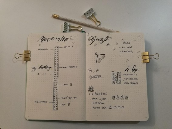 Bujo - monthly log - timeline