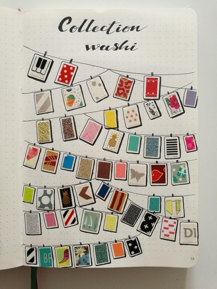 Idée - collection - washi - bujo