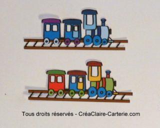 Embellissements Déco Train en couleur