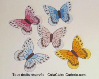 Embellissements Déco Jolis Papillons