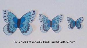 Embellissements Déco Jolis Papillons bleu vif