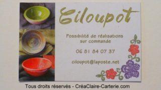 Carte de visite Ciloupot - ref : MOD-007