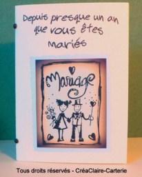 Félicitations mariage carnet personnalisé texte photo