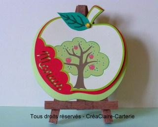 faire-part naissance personnalisé pomme prénom découpe-vue générale