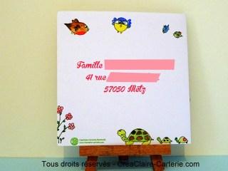 faire part naissance personnalisé photo illustré Famille Zoiseaux-dos
