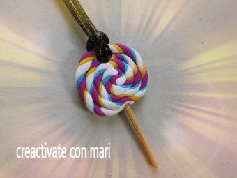 piruletas o lollipop de arcilla polimérica