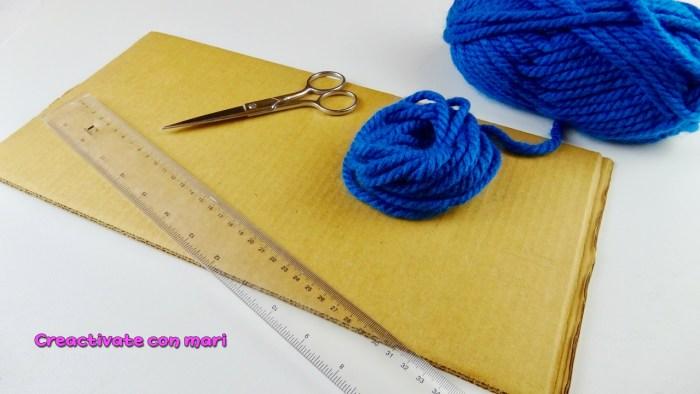 Bufandas con cartón