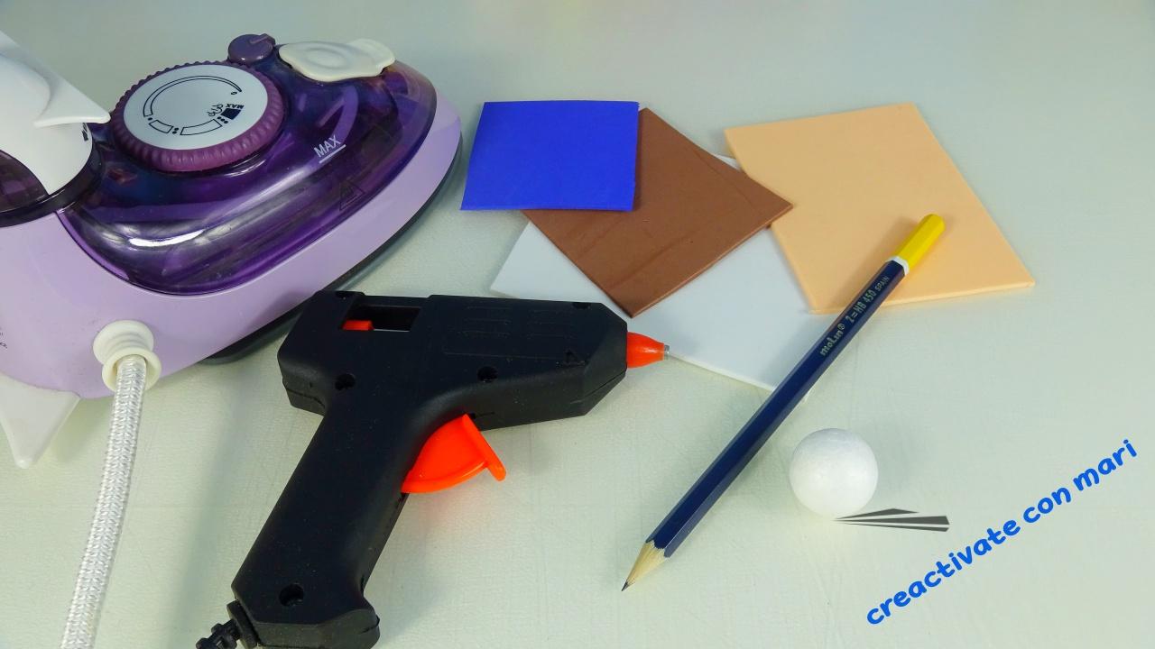 materiales cómo hacer fofulápiz comunión de goma eva